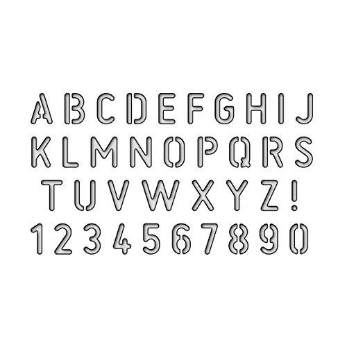 Karten-Kunst Stanzschablone - Stencil Alphabet (Buchstaben Stanzen)