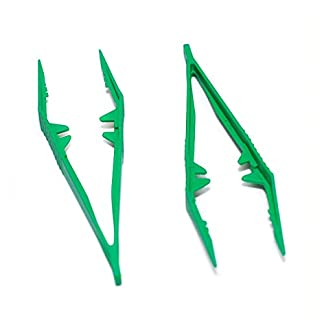 2 x 13cm Plastic Feeding Tongs 41nVIYduBnL