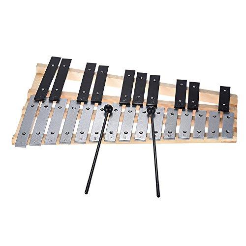 Festnight Glockenspiel, 25 Note Xylophon Percussion Pädagogisches Musikinstrument mit Tragetasche