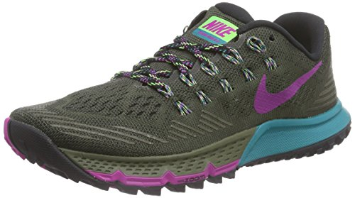 Nike Air Zoom Terra Kiger 3 Damen Laufschuhe Grau (Cargo Khaki/Voltage Green/Radiant Emerald)
