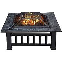 Square Firepit Wood Burning Grills