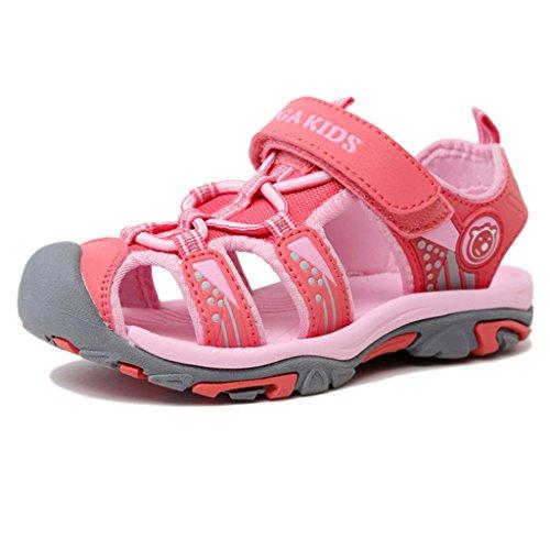 Eagsouni® Sommer Geschlossene Sandalen Klettverschluss Outdoor Wanderschuhe Ultraleicht Breathable Strand Schuhe Flach Unisex Kinder Jungen Mädchen