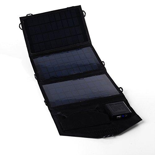 Xcellent Global Caricabatterie a Energia Solare a 18V Pieghevole e