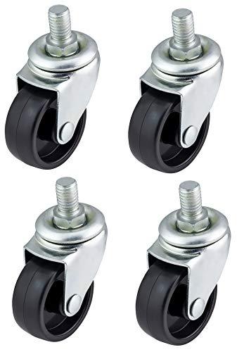 Menge: Bulldog Castors Lenkrollen aus Kunststoff, für Möbel, Geräte und Ausrüstung, 4 x 40 mm, max. 100 kg pro Set -