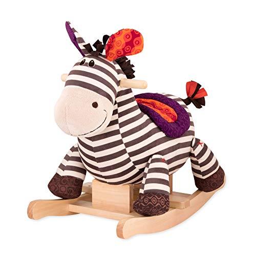 B. toys by Battat - Schaukelpferd Rodeo Rocker Zebra - BPA-freies Zebra Plüsch und Holz zum Aufsitzen für Kinder und Babys ab 18 Monaten