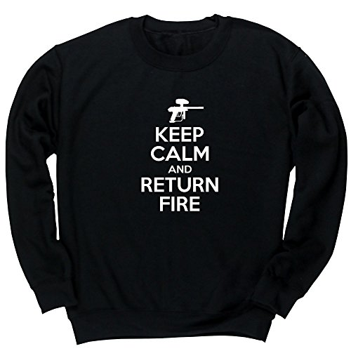 Hippowarehouse Keep Calm and Return fire Unisex Jumper Sweatshirt Pullover (Specific Size Guide in Description)