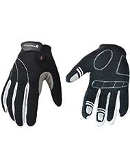 Tangda Guantes Deportivos Protección Completa Transpirable Antideslizante para Moto MTB Bicicleta Ciclismo Competición Fitness Ejercicios Deportes Color Negro/blanco XL