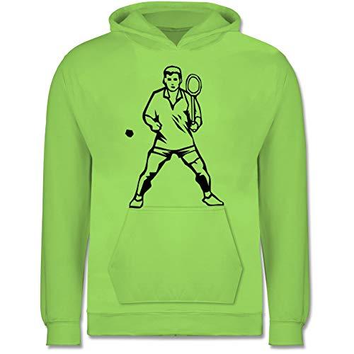 Sport Kind - Badminton Spieler - 9-11 Jahre (140) - Limonengrün - JH001K - Kinder Hoodie
