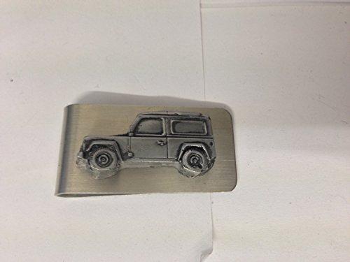 Produktbild Land Rover Defender 3D Zinn Effekt Emblem auf eine atemberaubende Geld Clip ref115