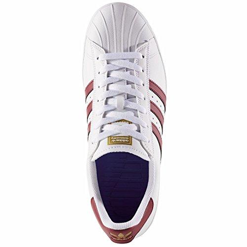 adidas Superstar Vulc ADV, Scarpe da Skate Uomo Bianco (Ftwbla/Buruni/Dormet)