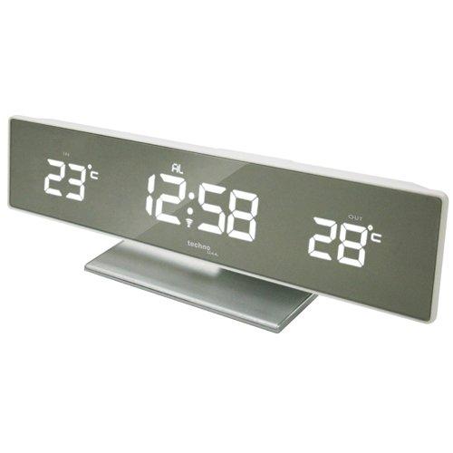 Technoline Wetterstation WS 6815 mit Spiegel-Display, Funkuhr und Innen- und Außentemperaturanzeige