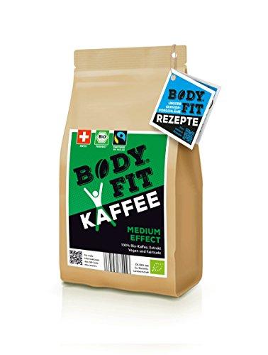 Bodyfit Medium grüner Kaffee Extrakt: Aus 100% BIO, Vegan & Fairtrade Kaffeebohnen