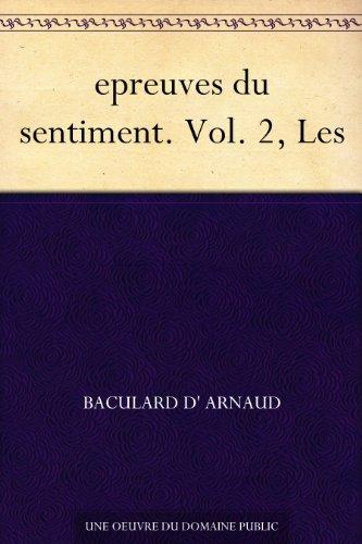Couverture du livre epreuves du sentiment. Vol. 2, Les