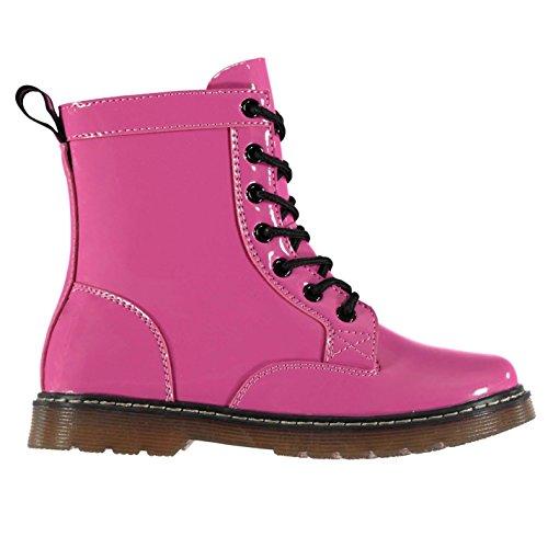 Miso 7 Loch Kinder Mädchen Stiefel Schnürstiefel Reißverschluss Boots Fuchsie C11 (29) (Kinder Reiten Stiefel)