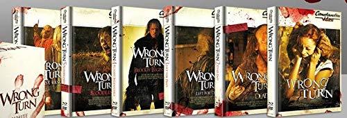 Wrong Turn 1-6 Bundle, Set + 6 Mediabook im Retro Cover - Alle Teile I-VI