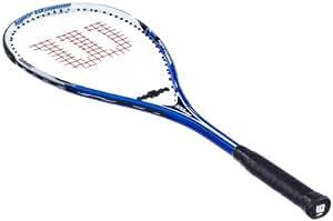 Wilson WRT930600 Hyper Ti X5 Raquette de squash 3 3/4 bleu / Blanc / Noir -