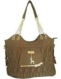 Clicktin Women's Shoulder Bag (Brown, CLKBAG169)