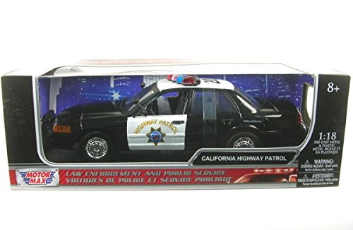 Preisvergleich Produktbild Motor Max 1:18 Ford Crown Victoria *Police* Highway b/w