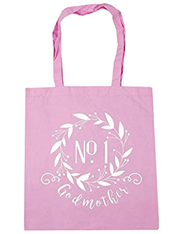 HippoWarehouse Number One Godmother Floral Reef Tote Shopping Gym Beach Bag 42cm x38cm, 10 litres