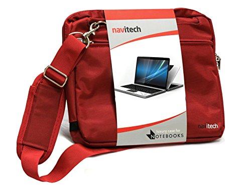 Navitech Rot Zoll Laptop / Notebook / Ultrabook Case / Tasche für das Acer TravelMate P648