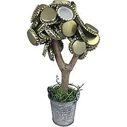 XXL Bierbaum mit 2 starken Magneten Kronenkorkenbaum lustiges Geschenk für Männer hält über 50 Kronkorken Geburtstagsgeschenk Partyspiel Trinkspiel der ORIGINAL Kronly