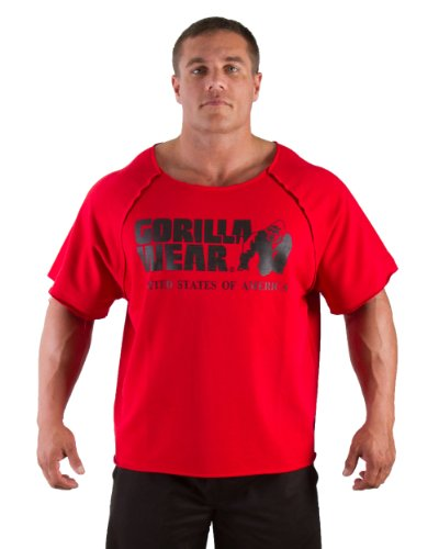 Gorilla Wear USA Classic Workout Top oldschool Rag Top-Tango Red-S/M (Shirt Classic Work)