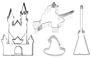 Enchantement ausstechset «» lot de 4 cadenas en forme de chapeau de magicien-emporte-pièce zaubererbesen-emporte-pièce en forme de