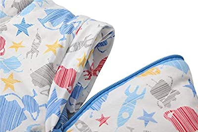 Saco de Dormir Unisex Baby Winter, Mangas Desmontables, algodón orgánico, Sacos de Dormir Acolchados, Saco de Dormir para niños, Adecuado para recién Nacidos hasta 48 Meses