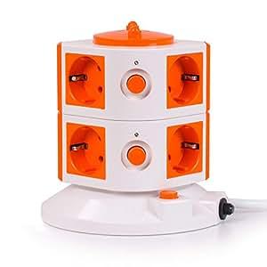 Special Tower 8er-Steckdosenturm - Orange