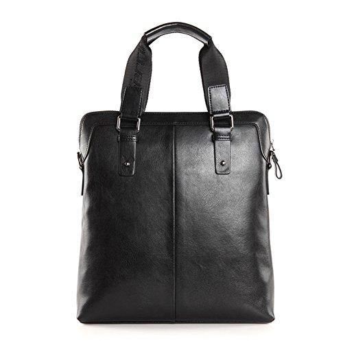 YAAGLE Echtes Leder Herren Aktentasche Handtasche Schultertasche Kuriertasche handgefertigt Reisetasche Business Taschen-brown brown