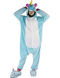Dizoe Unicornio Pijama Adulto Animales Kigurumi Trajes Disfraz Halloween Cosplay Ropa De Dormir