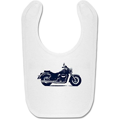 Shirtracer Fahrzeuge Baby - Motorrad - Unisize - Weiß - BZ12 - Baby Lätzchen Baumwolle -