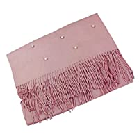 Emartbuy Luxury Super Soft Warm Cosy Pearls Shawl Scarf Stole Wrap - Baby Pink