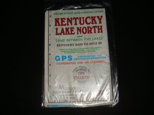 Headliners Kentucky Lake North Vergrößerte Version Geographische Karte, GPS-Charts und über Wasser und Unterwasser-Topographie