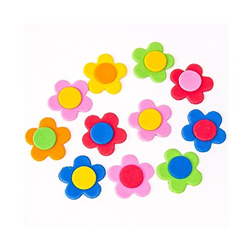 Flores hechas de Goma Eva para Decorar