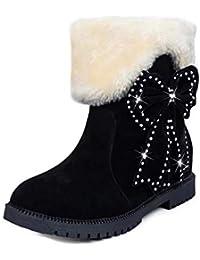 e4843f55e7 Oyedens Stivali Scarpe Donna Invernale Sportive Scarpe da Corsa Sneakers  Caldo Antiscivolo Outdoor Women Suede Bow