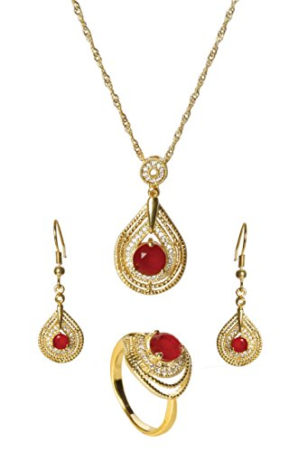 sempre-london-18ct-yellow-gold-plated-red-glory-trio-pendant-with-designer-earrings-in-cz-crystal-di