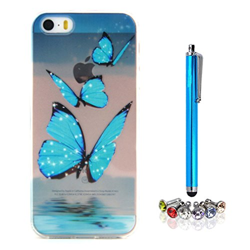 A9H iPhone 5 5S SE Hülle Case Cover Painting TPU Crystal Clear Tasche Handyhülle Schutzhülle 01HUA 04HUA