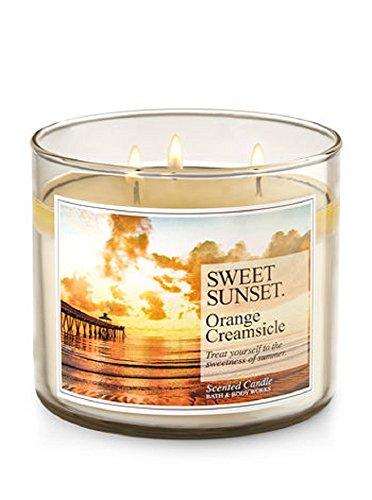 Bath & Body Works 3Dochte Kerze in sweet Sunset–Orange CREAMSICLE (Sweet Body Works)