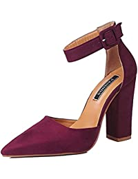 Minetom Donna Moda Sandali Tacco A Blocco Shoes Casuale Beach Eleganti  Partito Scarpe Estate Testa A f389fe51c0e