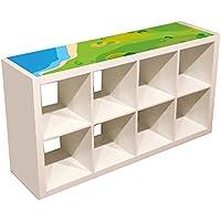 Preisvergleich für Möbelaufkleber Spielwiese - passend für das IKEA KALLAX Regal - Kinderzimmer Spieltisch - Möbel nicht inklusive
