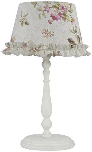 Peralta Vidavi Iluminación 7205 - Lámpara de sobremesa, madera, 60 W, E27, color capeado y rosa