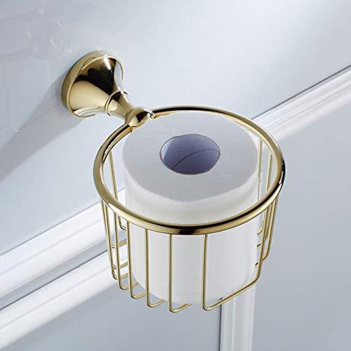 LUDSUY Bad Toilettenpapierhalter Regal Shampoo Duschgel Korb-Halter-Speicher-Korb-Rack Chrom Gold Finished Regale, A - Chrom-speicher-korb