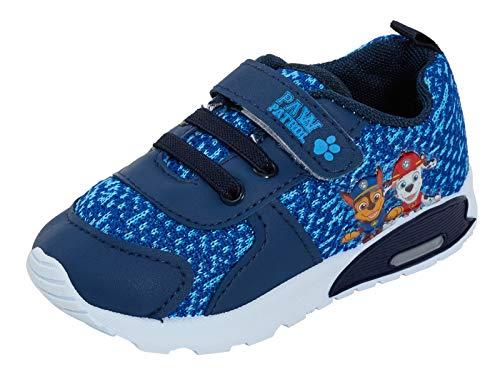 Zapatillas de Patrulla Canina para niños con Luces Intermitentes, Color Azul, Talla 24.5 EU