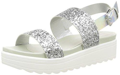 VictoriaSandalia Hebilla Glitter Plataforma - Scarpe da Ginnastica Basse Unisex - Adulto Argento (Argent (14 Plata))
