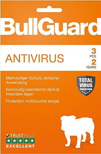 Bullguard Antivirus 2019 - Lizenz für 2 Jahre und 3 PCs! Windows 10|8.1|8|7|Vista [Online Code]