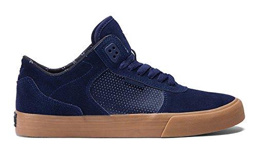 Scarpe Uomo Nero Navy Gum Supra Ellington Vulc Sneakers Men Shoes S27502-42