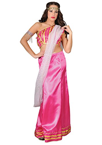 Kostüm Damen Rosa Indian Prinzessin (Bollywood Sexy Kostüme Tänzerin)