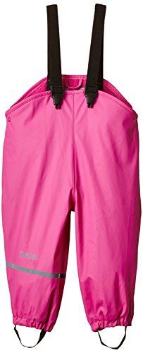 CareTec Kinder wasserdichte Regenlatzhose mit Fleecefutter (verschiedene Farben), Rosa (Real pink 546), 74