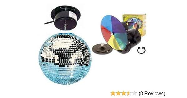 Party Set Spiegelkugel Ø 30 cm PAR 36 Strahler Farbrad: Amazon.de ...
